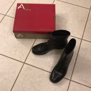 Black Leather Boots A2 by Aerosoles